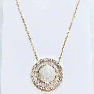 Milagrosa Sterling silver 925 gold necklace